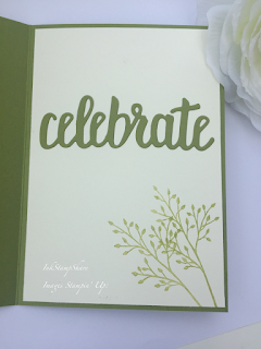 Inside of Congratulations card, Inspire Create Stamping Challenge Floral Theme #024