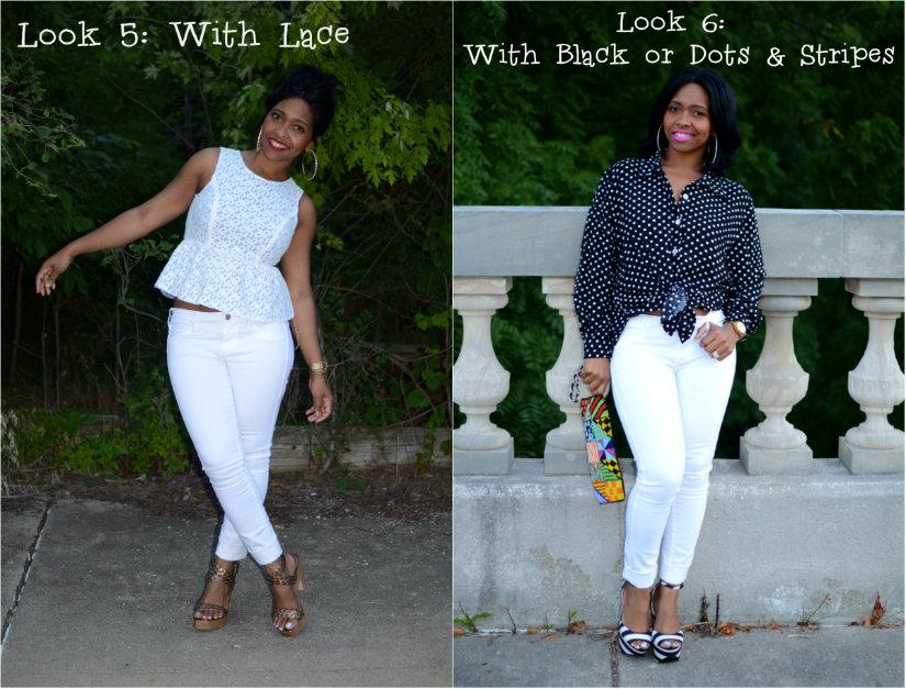 如何设计白色牛仔裤