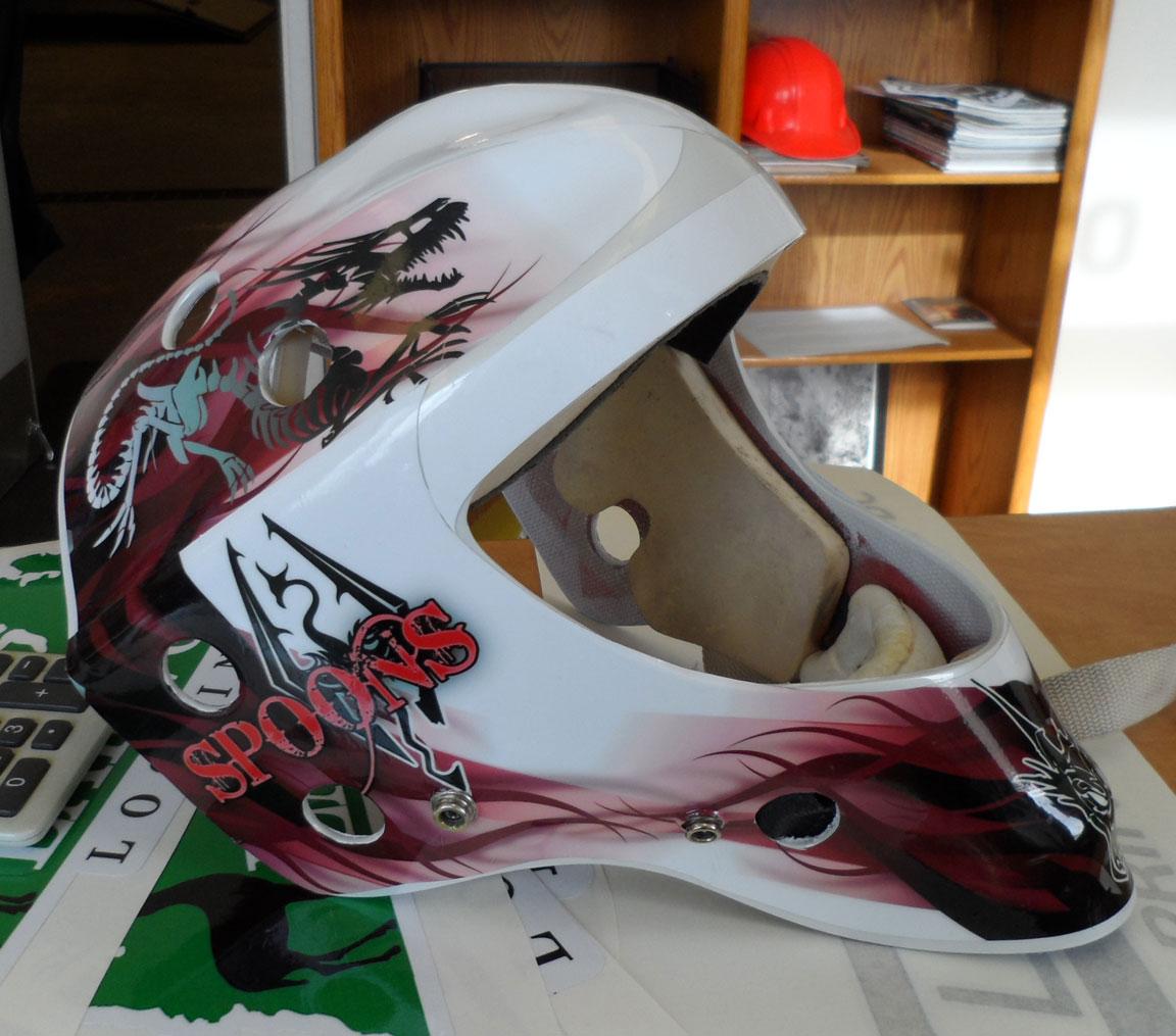 Goalie helmet mask graphics