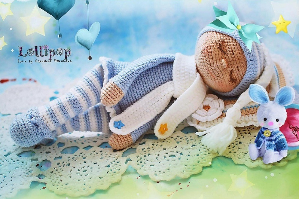 The sleeping doll Sonia crochet pattern