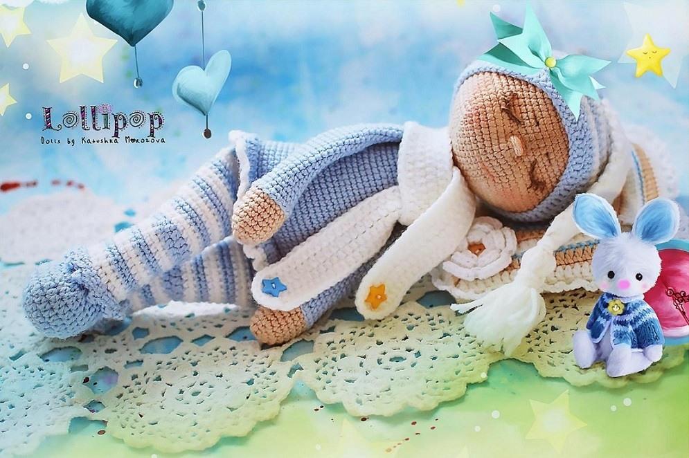 The sleeping doll Sonia crochet pattern