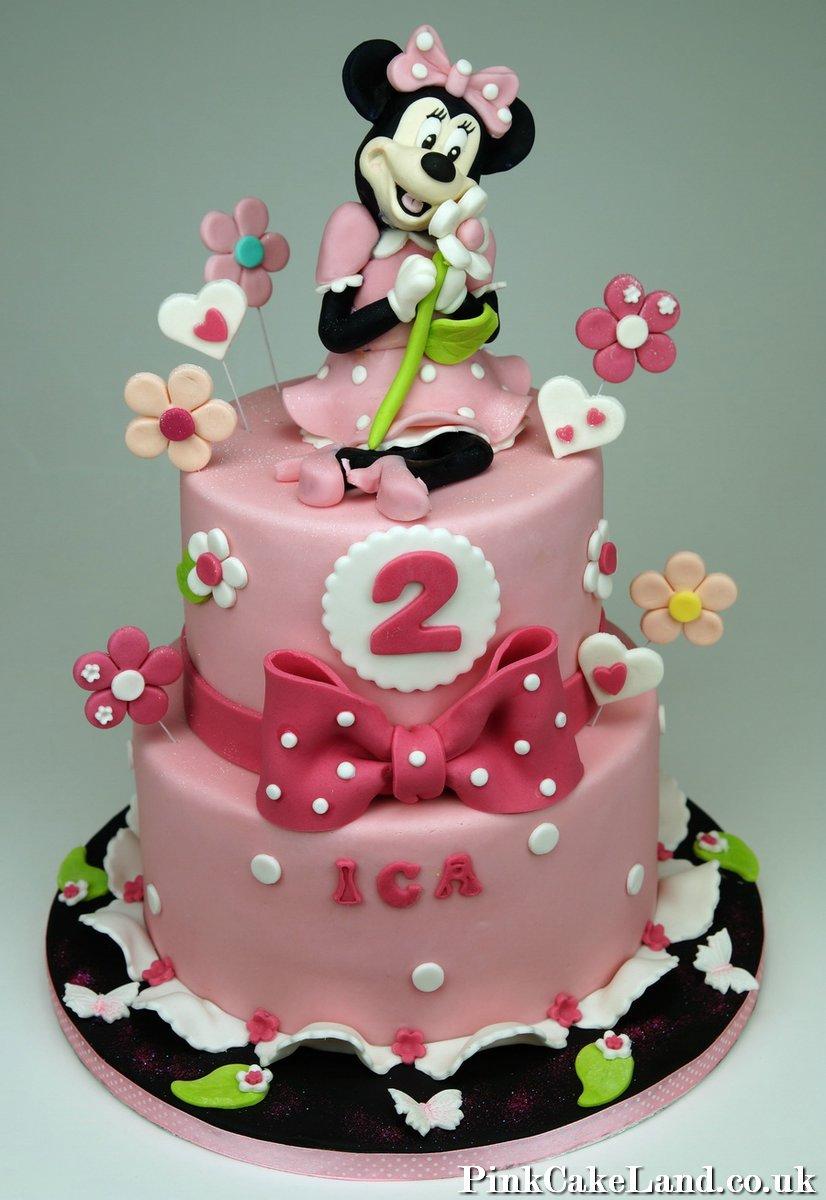 Minnie Mouse Birthday Cake Decorations Uk Image Inspiration of