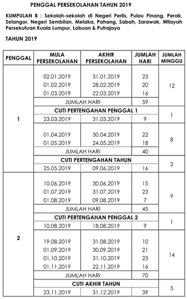 Kalendar 2019 Malaysia Serta Cuti Umum Arnamee Blogspot