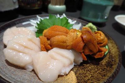 Kaiho Sushi, scallops uni