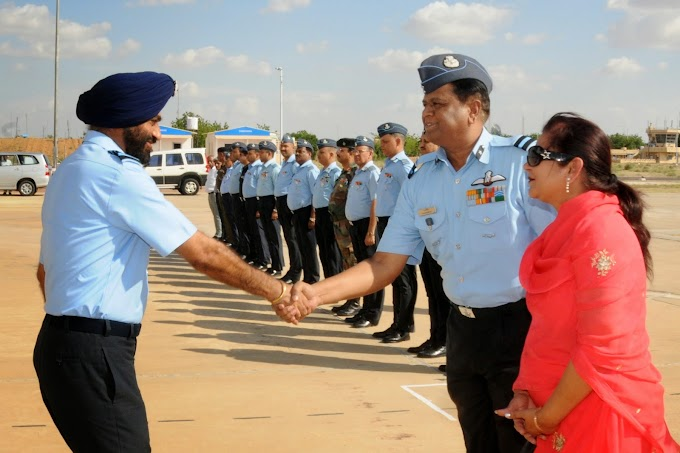 AOC IN C, SWAC, IAF VISITS AIR FORCE STATION JAISALMER