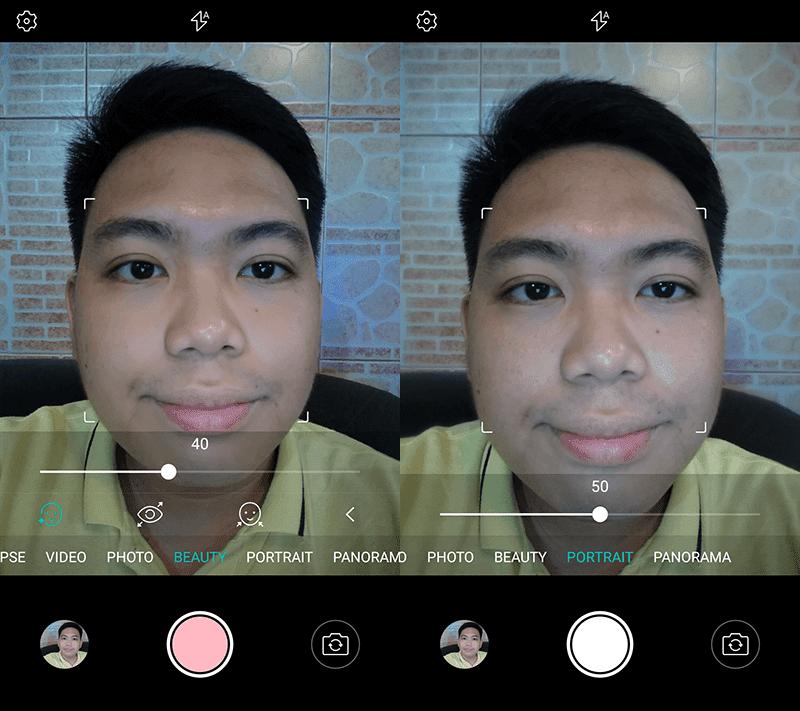Selfie cam UI