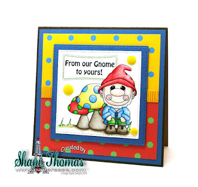 From our Gnome to Yours card featuring Digital Delights Mr. Gnome value set and paper, design by Paperesse.