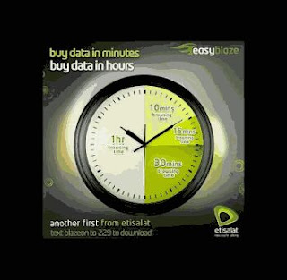 Etisalat Unlimited Download with the BlazeOn App Time Based