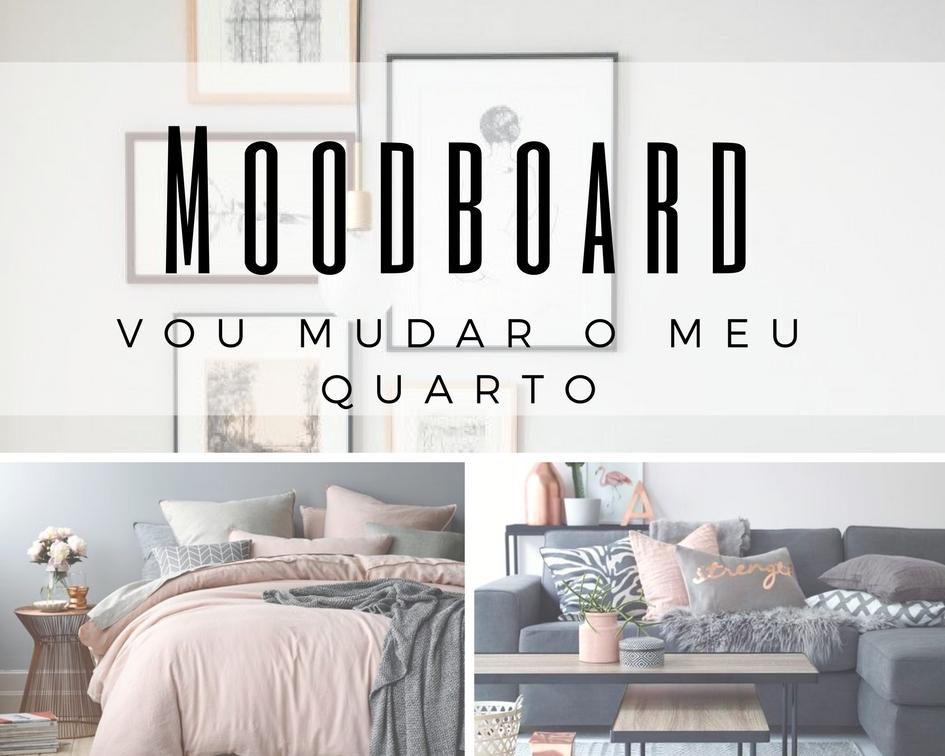 mood board decoração de quarto