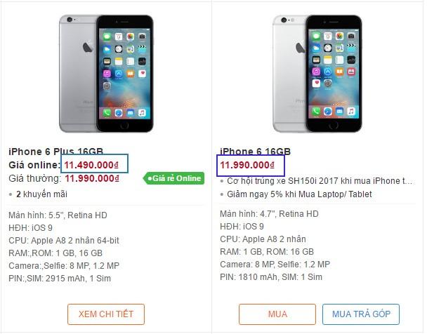 iPhone 6 Plus giá rẻ hơn iPhone 6 chuyện gì thế này - 177826