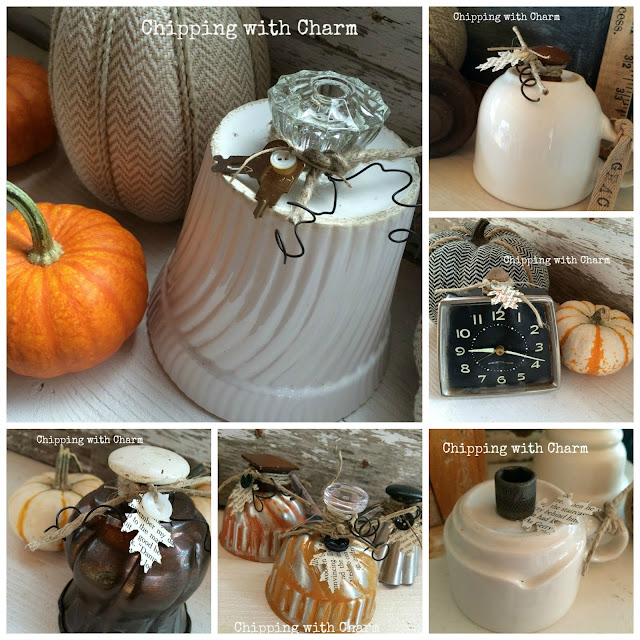 Chipping with Charm: Repurposed Pumpkins www.chippingwithcharm.blogspot.com