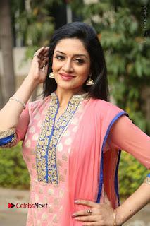 Actress Vimala Raman Stills in Beautiful Pink Salwar Kameez at (ONV) Om Namo Venkatesaya Press Meet  0153.JPG
