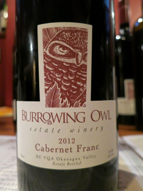 Wine Review of 2012 Burrowing Owl Cabernet Franc from BC VQA Okanagan Valley, British Columbia, Canada (90 pts)