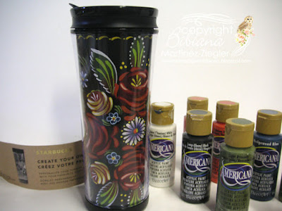 paint your own starbucks coffee mug with decoart acrylic paints