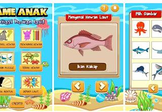 Game edukasi Anak Android PAUD TK SD - Game edukasi anak Hewan Laut