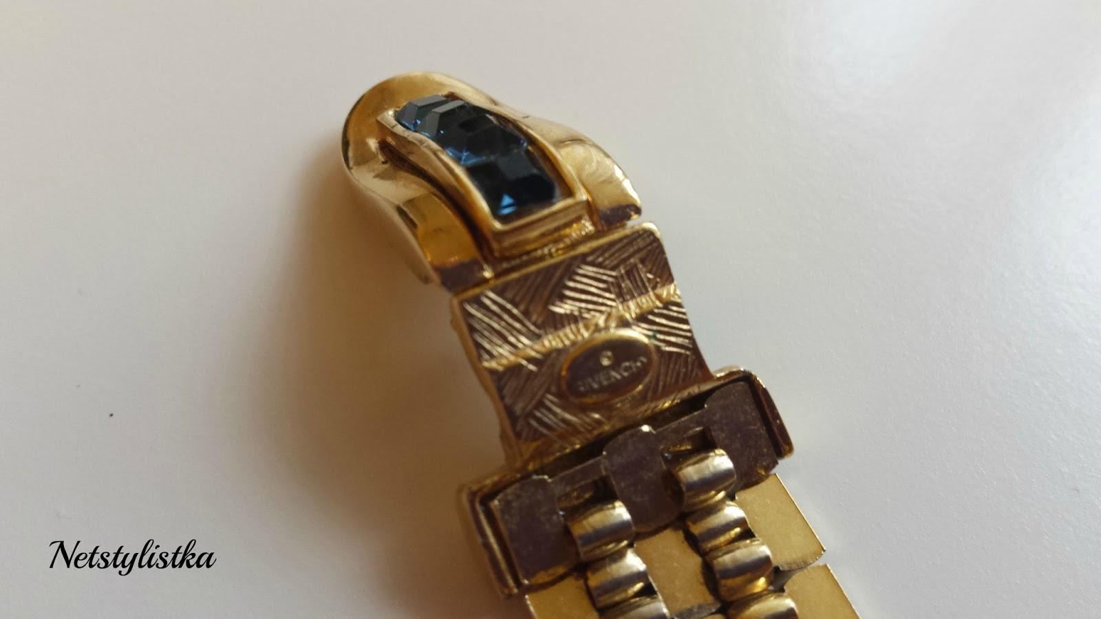 Givenchy biżuteria vintage złota bransoletka, vintage, stara biżuteria, biżuteria od projektantów