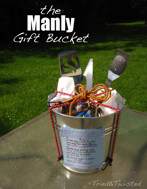 Tried and Twisted: DIY Manly Gift Bucket