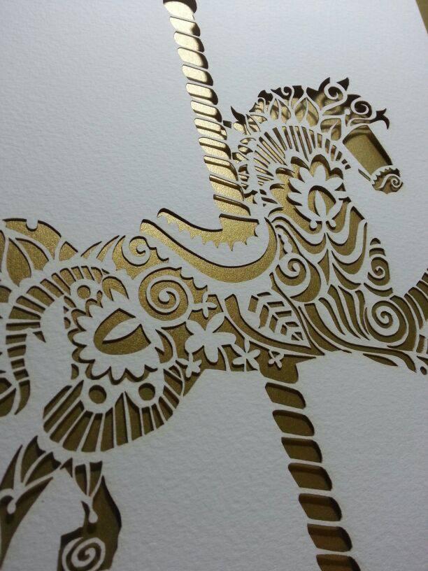 Paper Panda: Paper Panda Laser Cut 'Carousel Horse'