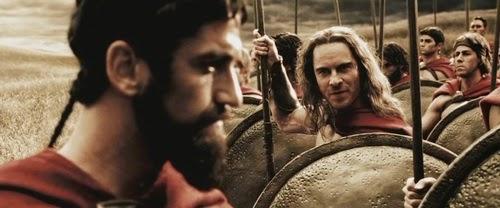 Side View of Leonidas Beard in 300 Movie