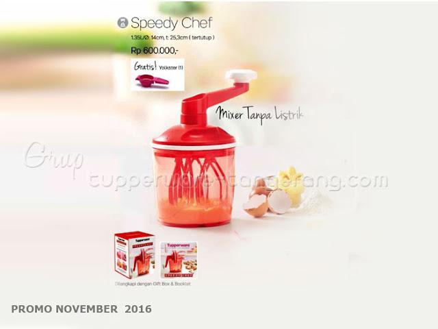 Speedy Chef Promo Tupperware November 2016