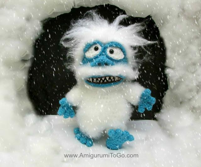 amigurumi snow monster