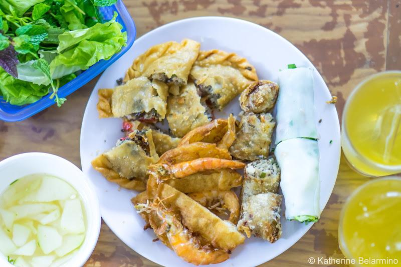 Bánh Gối, Nem Cua Bể, and Bánh Tôm Traditional Vietnamese Food