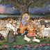 Save the Cow Mission - Lord Krishna with His Cow