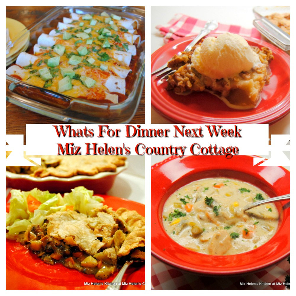 Whats For Dinner Next Week * Week of 11-29-20