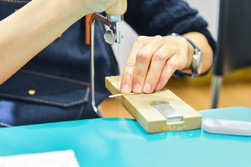 台北Dob輕珠寶,銀飾體驗金工課程