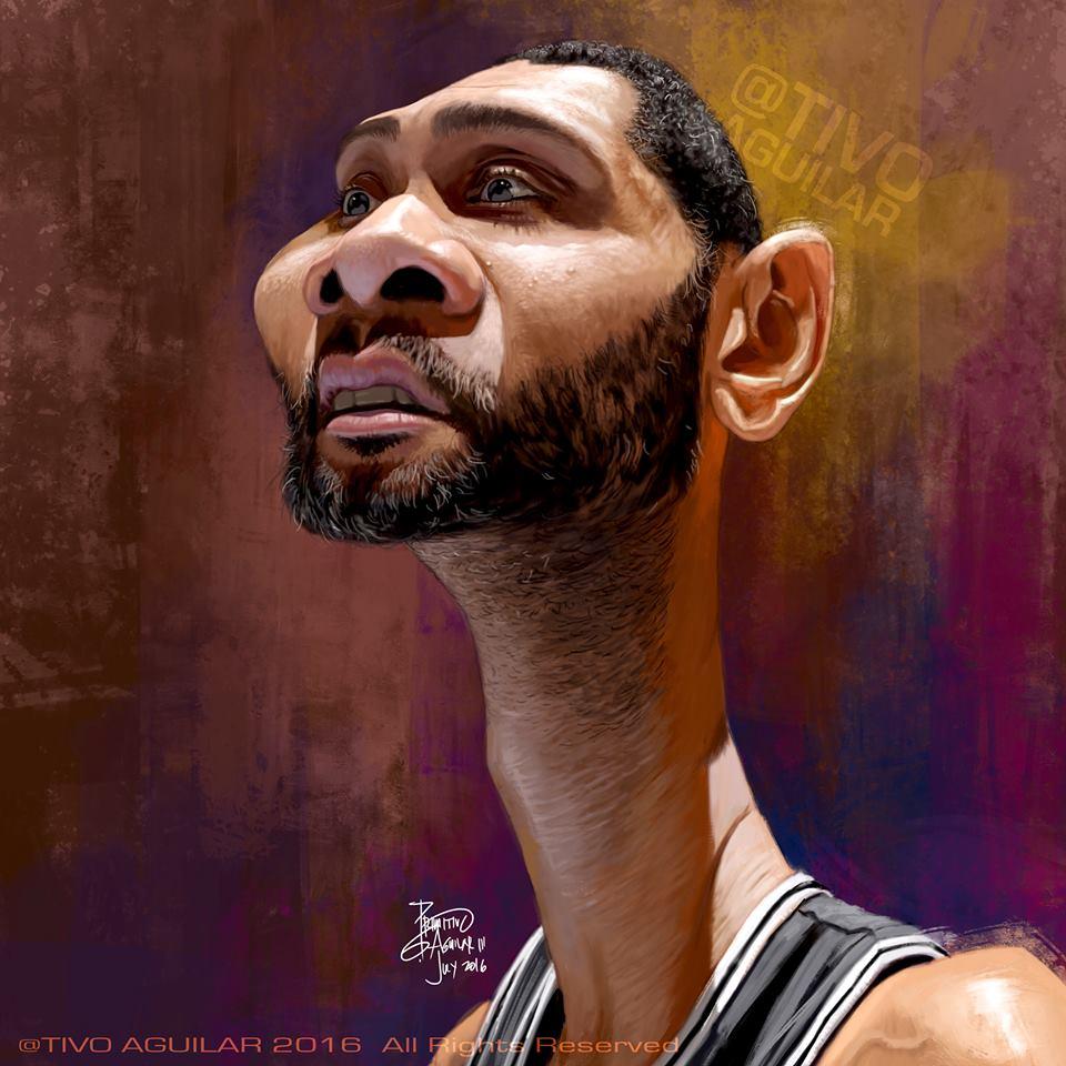 Tim Duncan por Tivo Aguilar