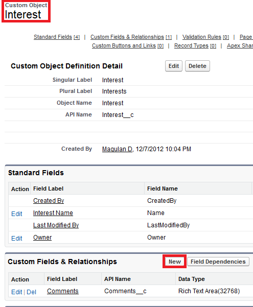 Infallible Techie: How to create Master Detail relationship