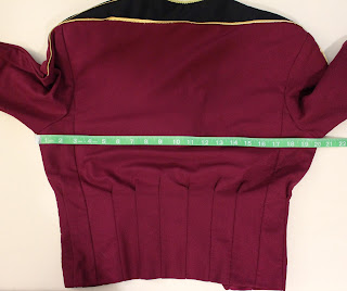 TNG season 1 admiral jacket - chest