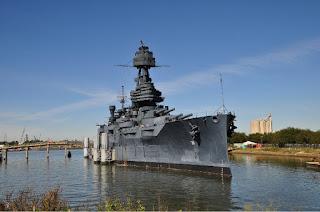 Battleship USS Texas in Houston Texas
