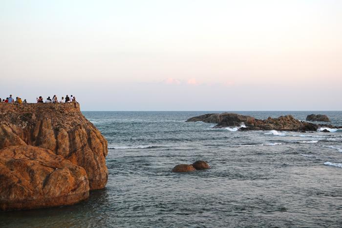 Aussichtspunkt für den Sonnenuntergang auf den Festungsmauern