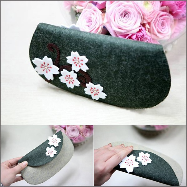 How-to-sew-a-cherry-blossom-wallet-from-felt-cloth-finished-product