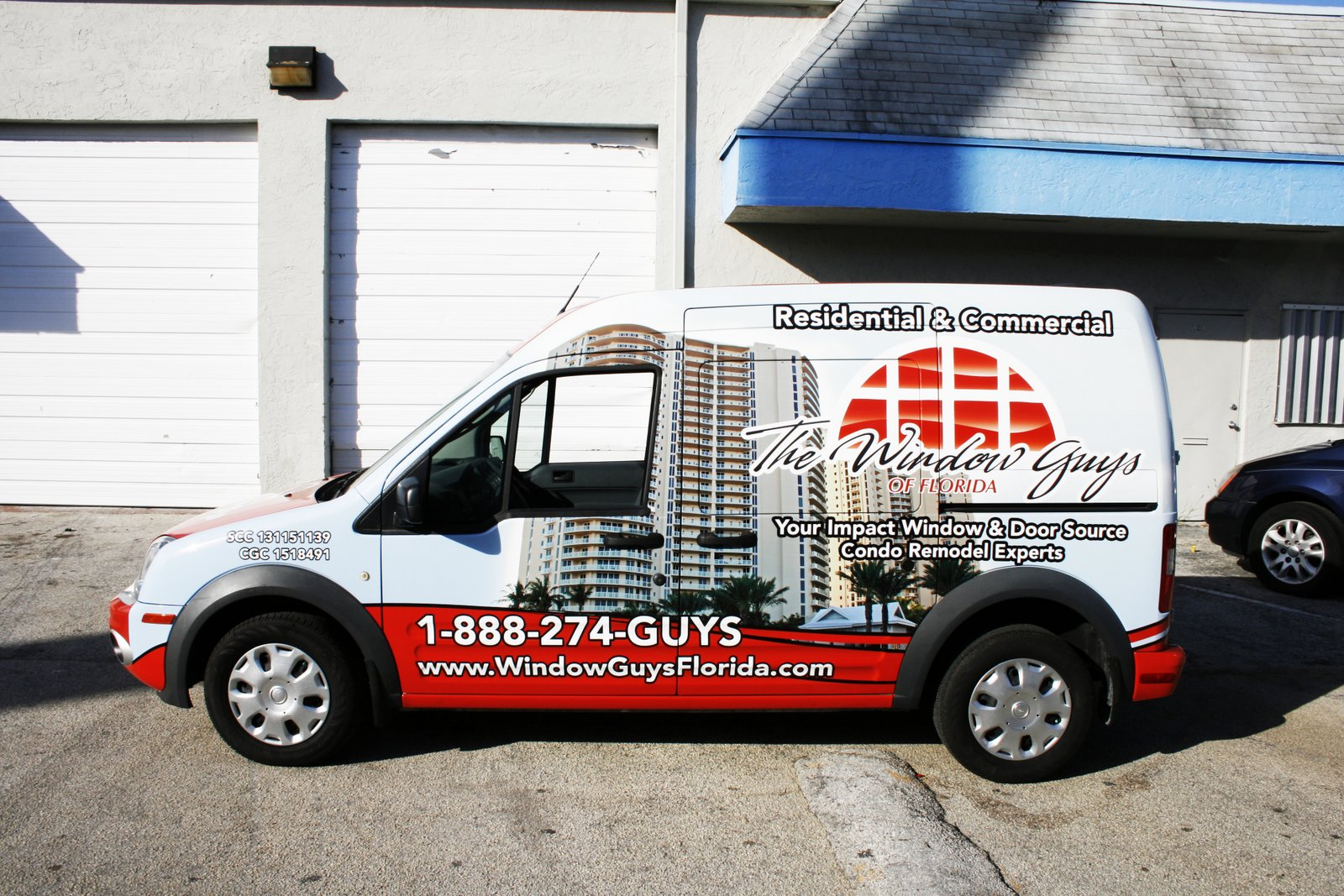 Ford Transit Connect Van Wrap Graphics West Palm Beach Florida The Window Guys