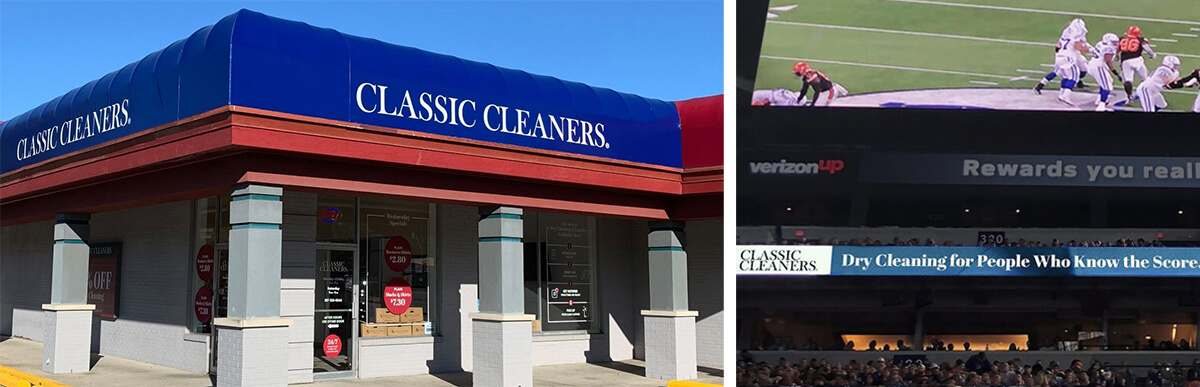 Classic Cleaners store signage