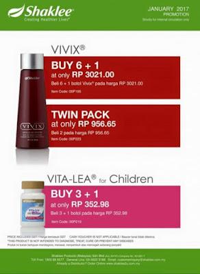 Promosi Shaklee Januari 2017 Vivix