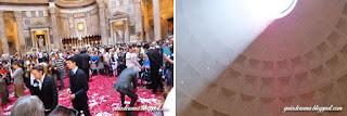 pantheon chuva petalas guia portugues - O nosso city tour Anjos e Demônios