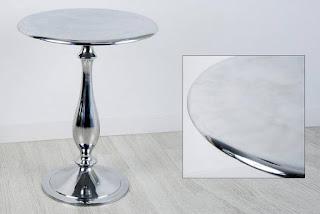mesa redonda metalica