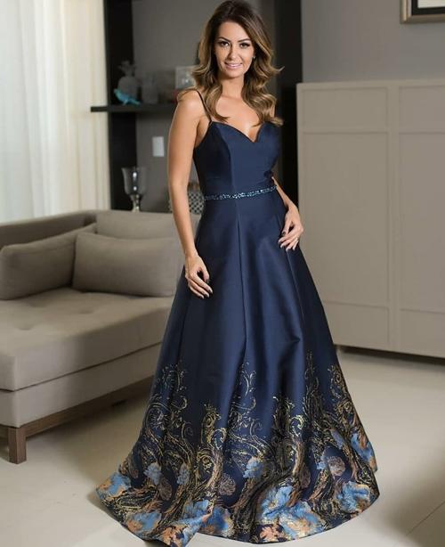 vestido azul marinho madrinha