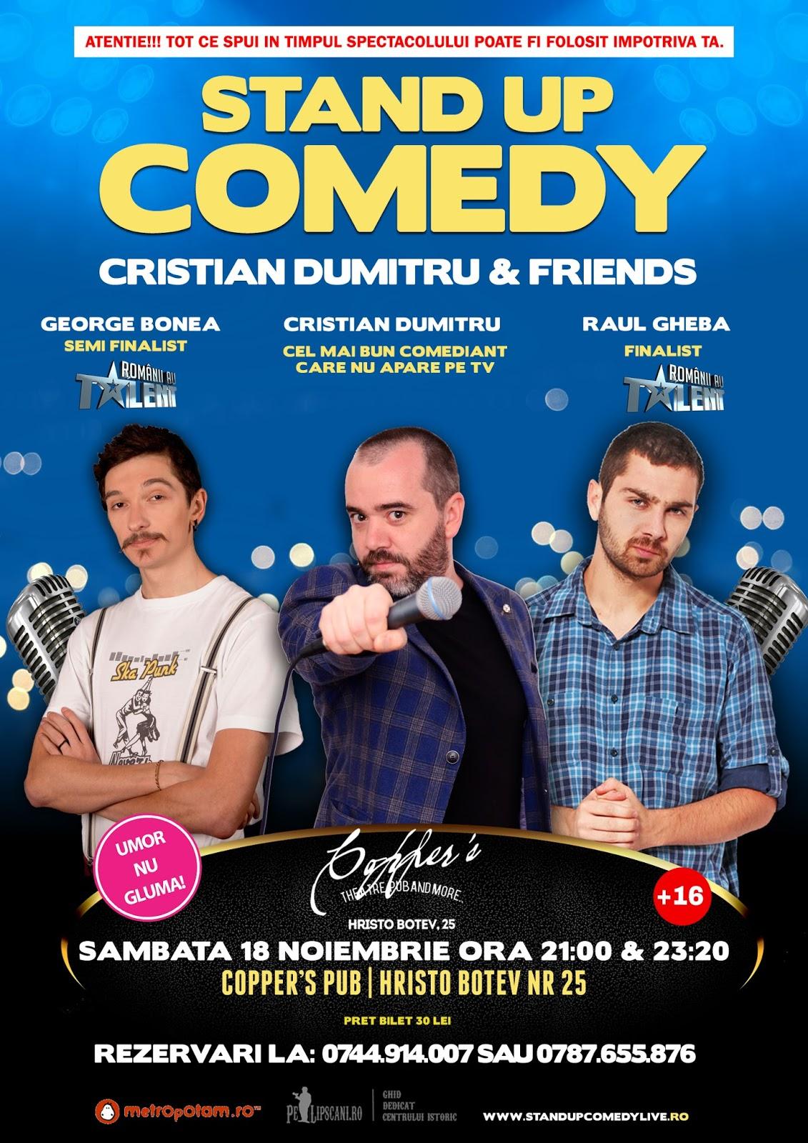 Stand-Up Comedy Bucuresti Sambata 18 Noiembrie | Doua spectacole