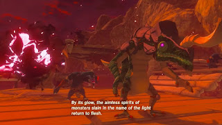 zelda monsters revived from blood moon in legend of zelda breath of the wild screenshot