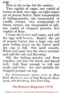 World War 1 Peanut Butter Cookie Recipe