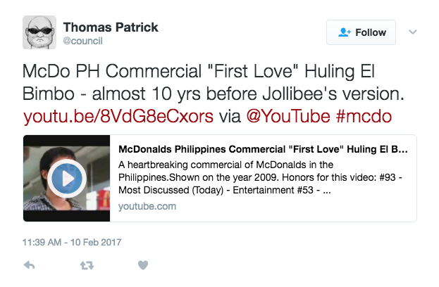 RIP-OFF: Jollibee' 'Vow' Commercial Actually Resembles What McDonald's Did Back in 2009!