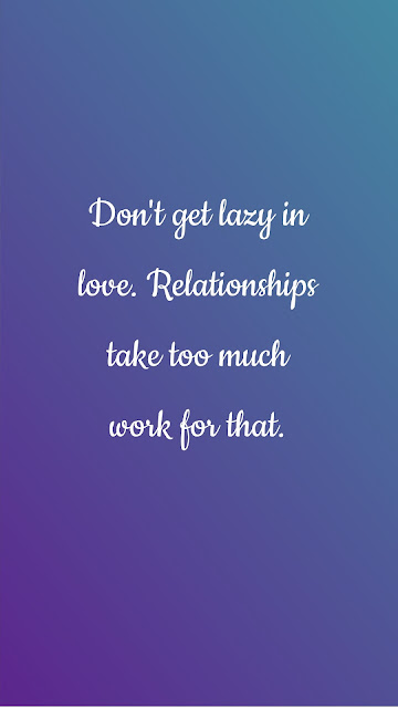 Lazy in love