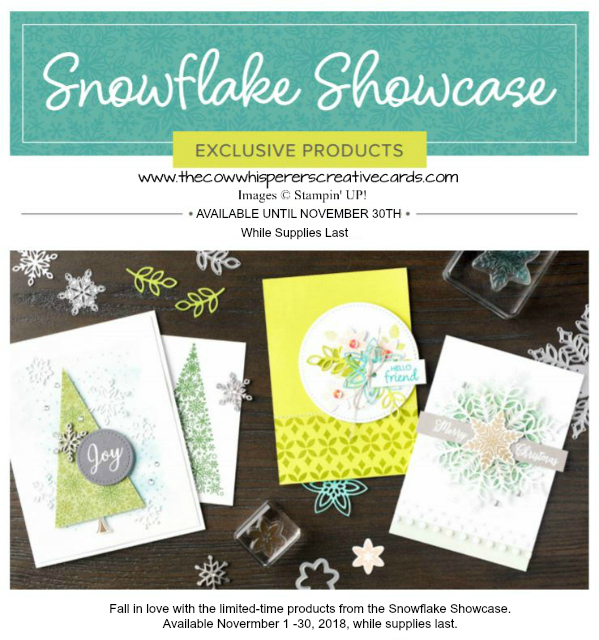 Snowflake Showcase, Snow is Glistening, Snowfall Thinlits Dies, Happiness Surrounds