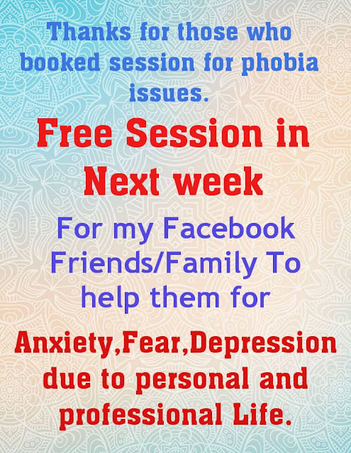 Free Session in Next week ... Anxiety , Fear , Depression - Kshitij Yelkar