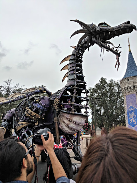 Celebrating my Birthday at the Magic Kingdom - Magic Kingdom Parade - Maleficent's Dragon