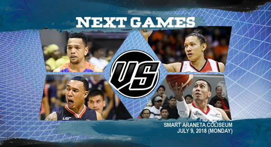 List of PBA Games: July 9 at Smart Araneta Coliseum 2018 PBA Commissioner's Cup